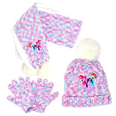 My Little Pony Hat Scarf and Gloves Winter Set (2-4 Years 65fbff284c5