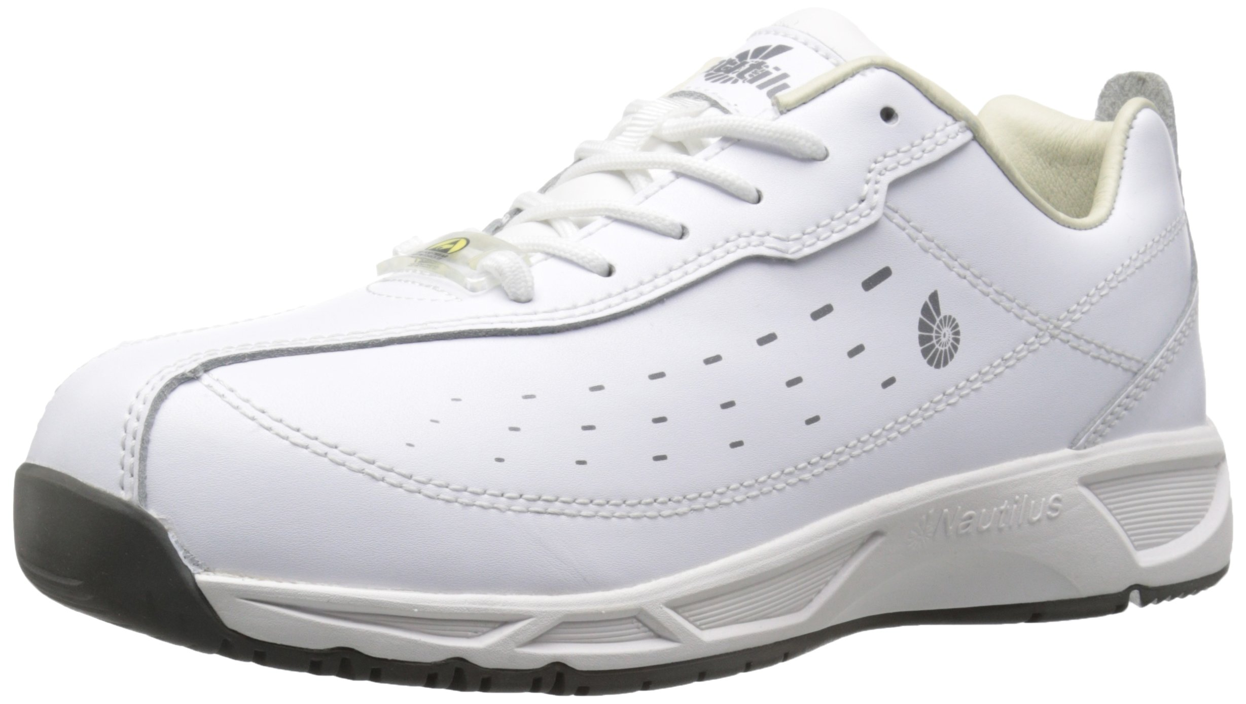 Nautilus 4046 ESD No Exposed Metal Soft Toe Clean Room Athletic Shoe, White, 7.5 M US