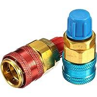 AUDEW 1 Par Acopladores Rapidos Conector para Refrigerante