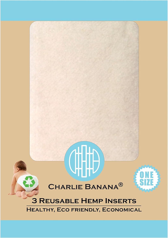 Lot de 3 Petite Charlie Banana r/éutilisable chanvre Inserts pour Couches en tissu