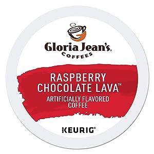 Gloria Jean's Raspberry Chocolate Lava Keurig Single-Serve K-Cup Pods, Medium Roast Coffee,96 Count