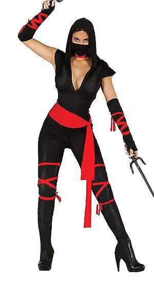 Guirca- Disfraz adulta black ninja, Talla 36-38 (80793.0)