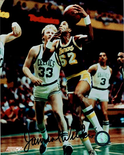 a575db5cbb8 Jamaal Wilkes Hand Signed Autographed 8x10 Photo Los Angeles Lakers v Larry  Bird