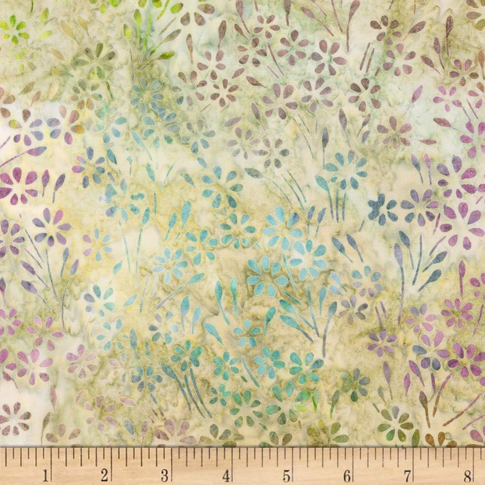Kaufman Artisan Batiks Impressions Of Tuscany 2 Flowers Garden Fabric by the Yard