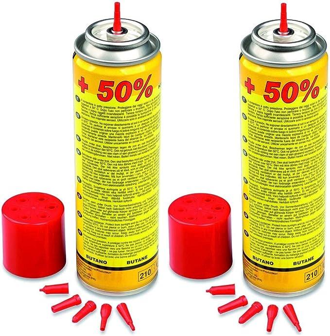 Aesamarket Kemper 10051-2 Bombonas cartucho de gas para recarga encendedores y microaldadores, 90 g, 2 unidades