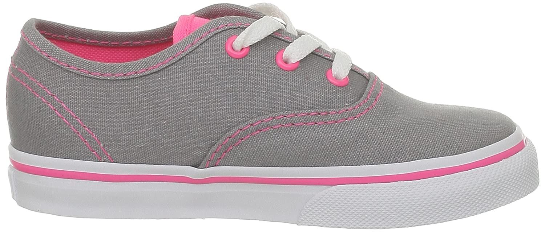 Amazon.com | Vans Girls Authentic, (Neon Pop) Frost Grey/Pink-6 Toddler | Skateboarding
