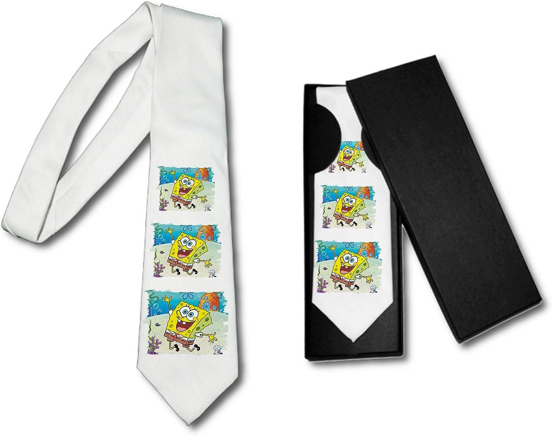 MERCHANDMANIA Corbata Elegante Bob Esponja Dibujo PIÑA MAR Suave ...