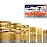 230-Pc Kit MASTERCRAFT Titanium-Coated Drill Bit Set 3//64 up to 1//2 Inch