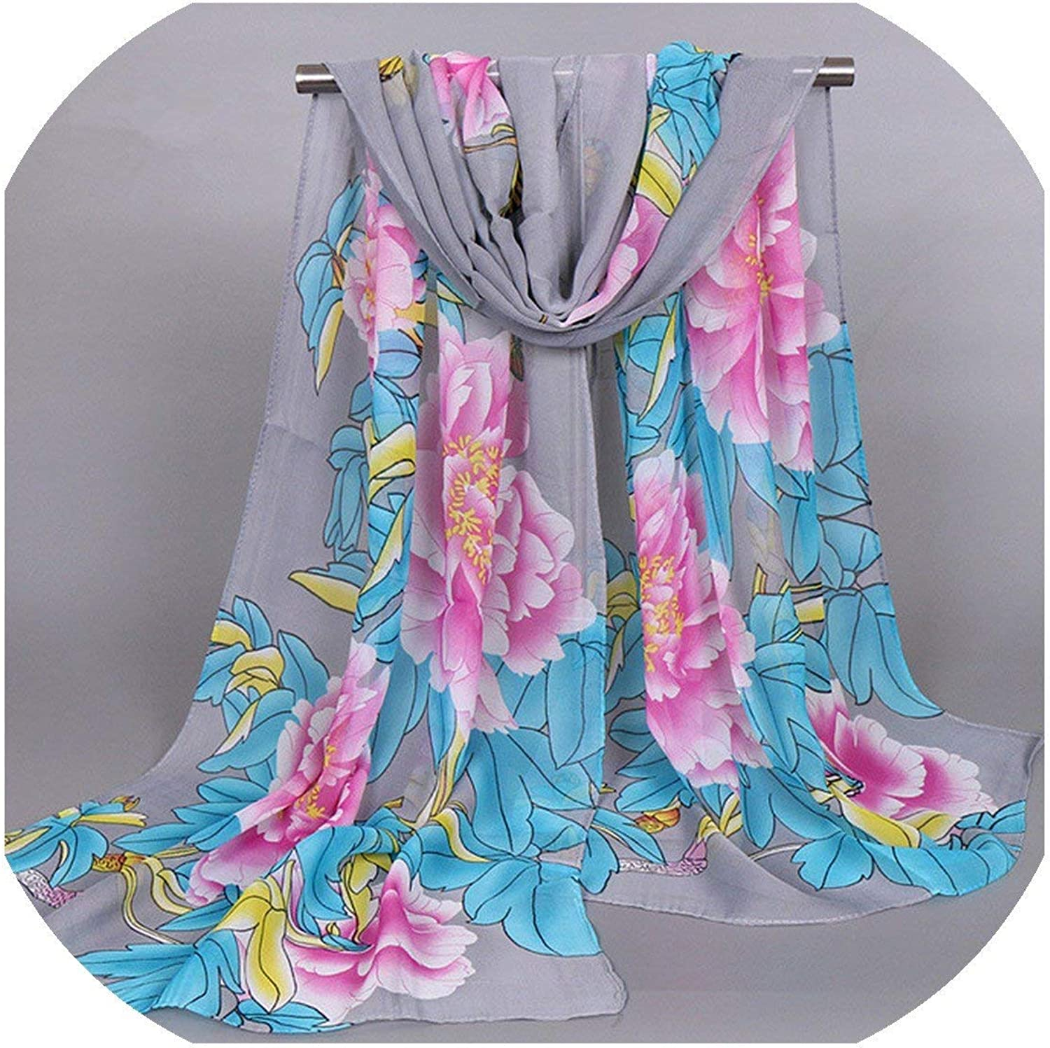 Fashion Chiffon Silk Shawls Printed Flower Butterfly Hijab Female Winter Scarf Foulard Women Beach Towel Cachecol Feminino