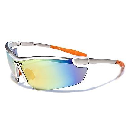 d361a5a5777 Amazon.com  Mirozi Men s Semi-Rimless Wrap around Sports Sunglasses Colored  Lens   Frame (Silver Black