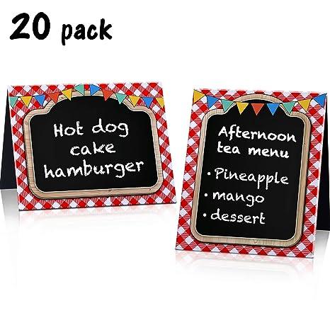 Amazon.com: Blulu - 20 piezas de pizarra para picnic, fiesta ...