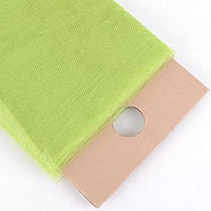 "54"" Inch X 10 Yards Premium Glitter Tulle Fabric Bolt (Apple Green)"