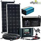 Solaranlage Autark M-Master 200W Solar - 1000W AC Leistung 12V 230V - Inselanlage - Solarset