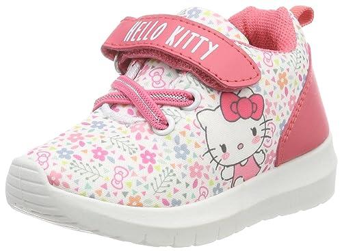 Hello Kitty HK Karmen, Zapatillas para Niñas, Blanco (White/Pink 24), 24 EU