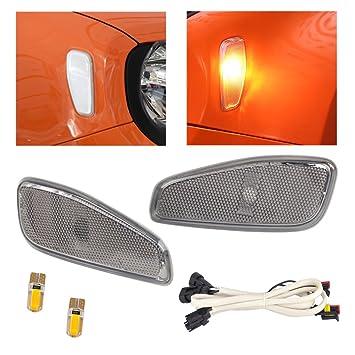 beler 2stk Vorne Seite Marker Lampe Abdeckung mit LED Licht Kabel ...