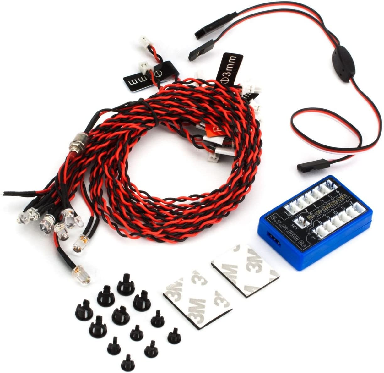 RC model car GT power 12 LED Flashing Light Wire Systems Control Box