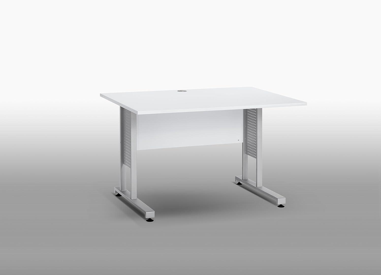 MAJA-M/öbel 1222 8839 Schreibtisch Icy-wei/ß 120 x 75 x 80 cm Abmessungen BxHxT