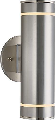 Artika C7 Modern Porch 13″ Outdoor Cylinder Wall Light Fixture Weather Resistant