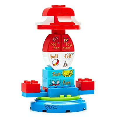 Mega Bloks Dr. Seuss The Cat in The Hat Carousel Building Set (24 Piece), Multicolor: Toys & Games