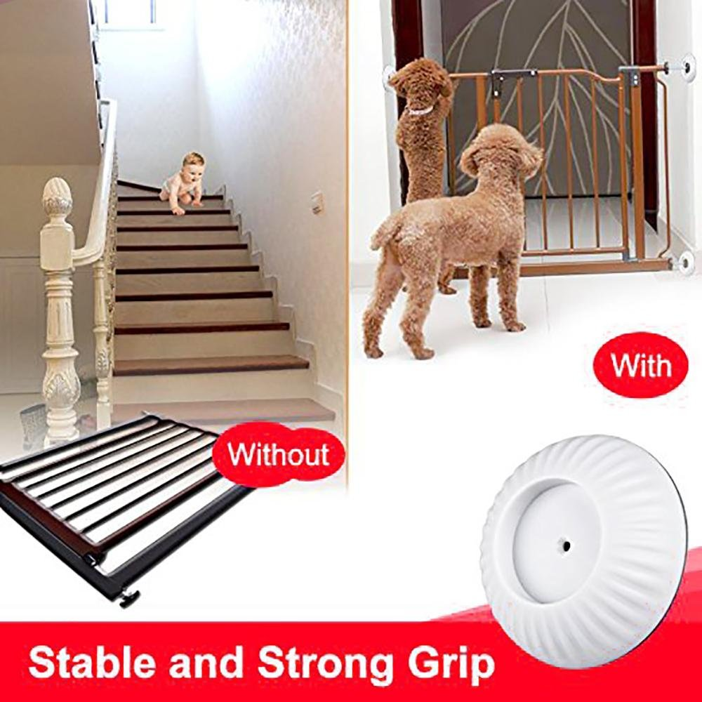 8Pack Baby Safety Wall Guard Protector, Aolvo Gates Wall Cups Fit for Bottom of Gates, Doorway, Stairs, Baseboard, Work with Dog Pet Child Kid Pressure Mounted Gates by Aolvo (Image #5)