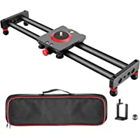 Neewer Camera Slider Carbon Fiber Dolly Rail, 16 inches/40 Centimeters with 4 Bearings for Smartphone Nikon Canon Sony…