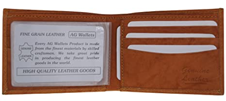 7cdf3b80a2 AG Wallets Genuine Leather Men s Basic Wallet With Plastic Inserts ...