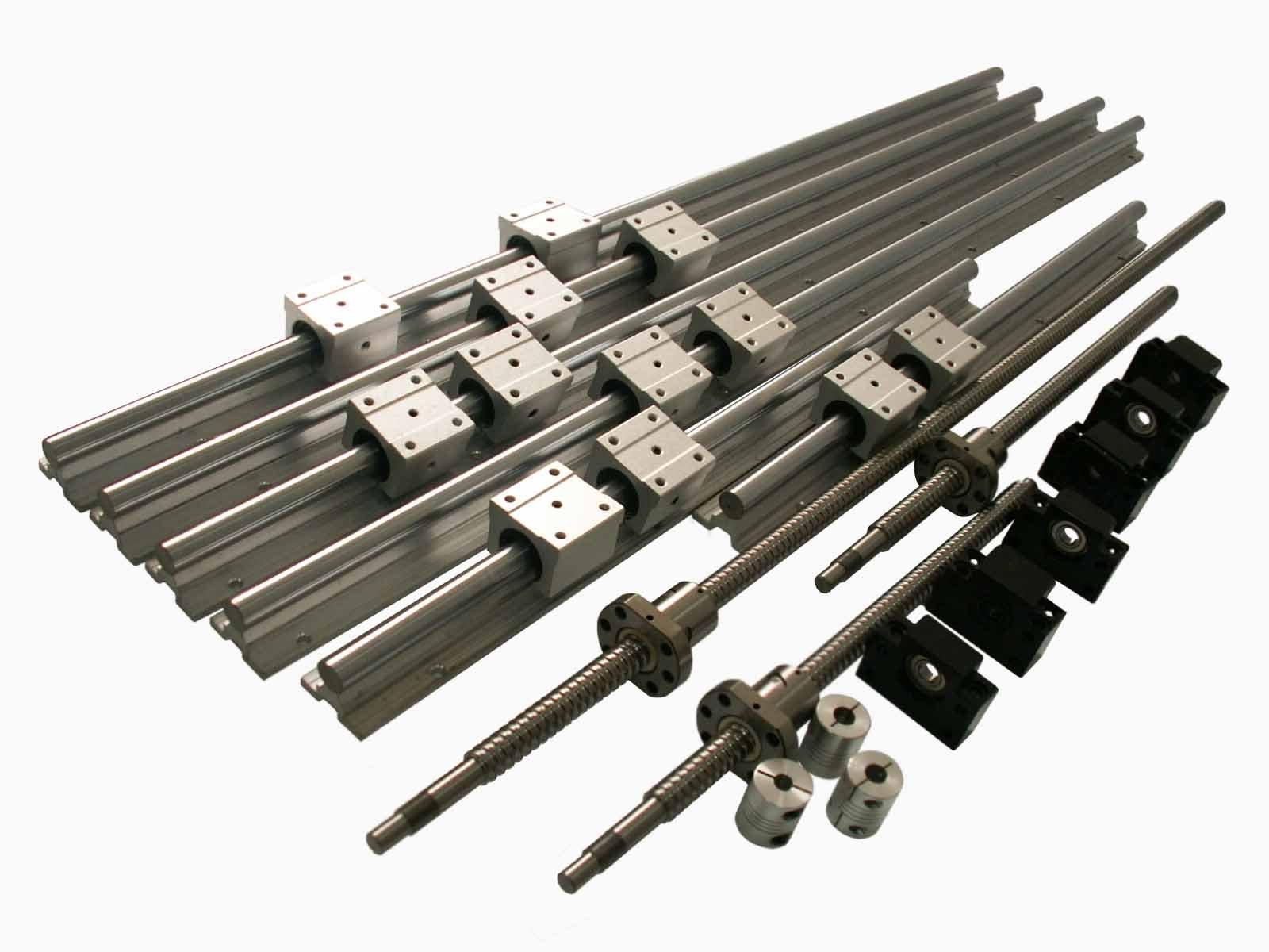 Joomen CNC SBR16 support rail RM1605 ballscrew 300/1300/1300mm Linear Motion Kit