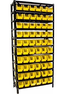 60 Bin Parts Rack Easily Organize Nuts, Bolts, Or Parts, Removable Parts  Bins