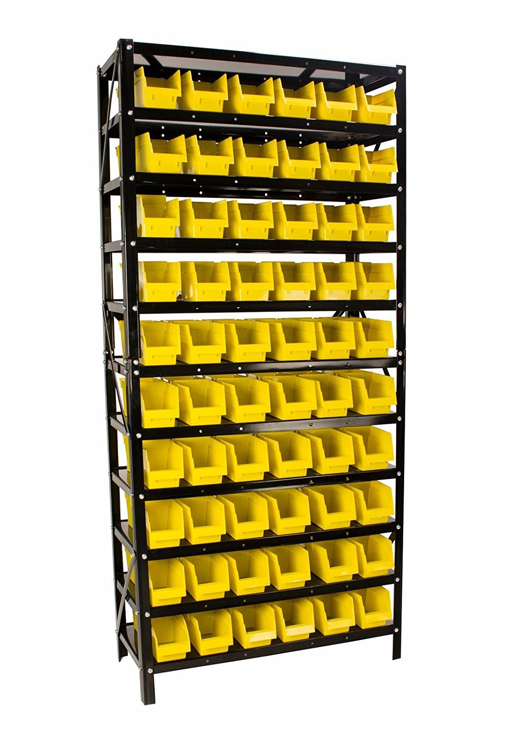 60 Bin Parts Rack easily Organize Nuts, Bolts, or Parts, Removable Parts Bins with Dividers Erie Tools