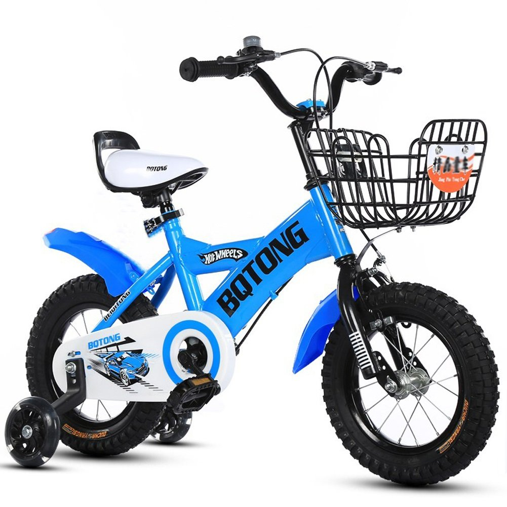 速くおよび自由な CHS@ 子供の自転車バイクの自転車2-4-6歳の自転車12-14-16-18インチの男の子と女の子足のベビーカー 子ども用自転車 : B07Q1MLPHT (色 : 青, サイズ さいず 12\ : 12