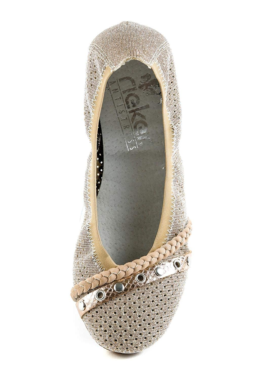 Rieker Damen Komfort Ballerinas Rosa Kupfer Gr. 37: Amazon