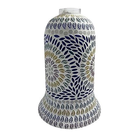 Lámpara de techo de cristal decorada con mosaico hecho a ...