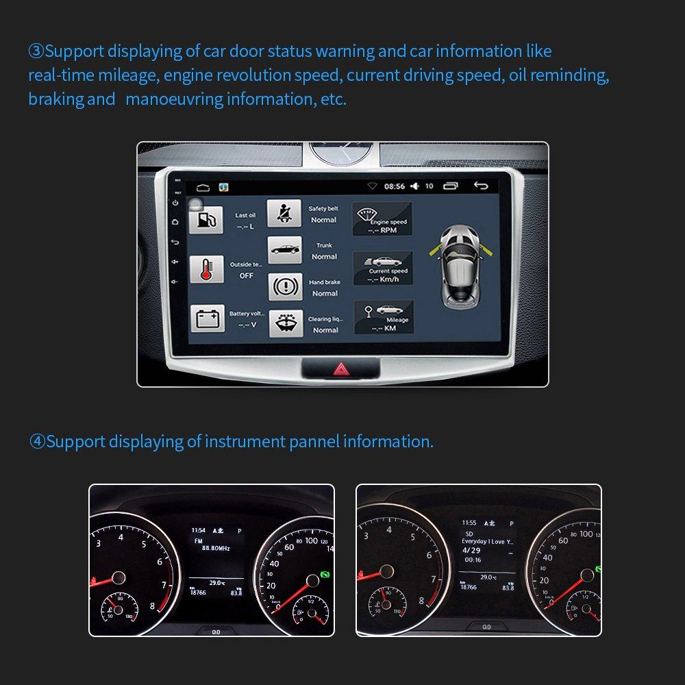 Amazon.com: Radio estéreo para coche en salpicadero ...