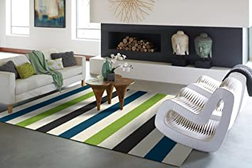 Modern Green Gray Blue White Shag Area Rugs 5x7 Soft Cozy Grey Shag Rug  Contemporary Living