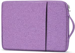 "14-15.4 inch Laptop Sleeve Case Computer Bag with Handle for 15 inch MacBook Pro A1990 1770, 14"" Lenovo IdeaPad 330 130, Dell Latitude 14, HP Pavilion 14, Asus L402SA E403NA, HP 14z Laptop (Purple)"