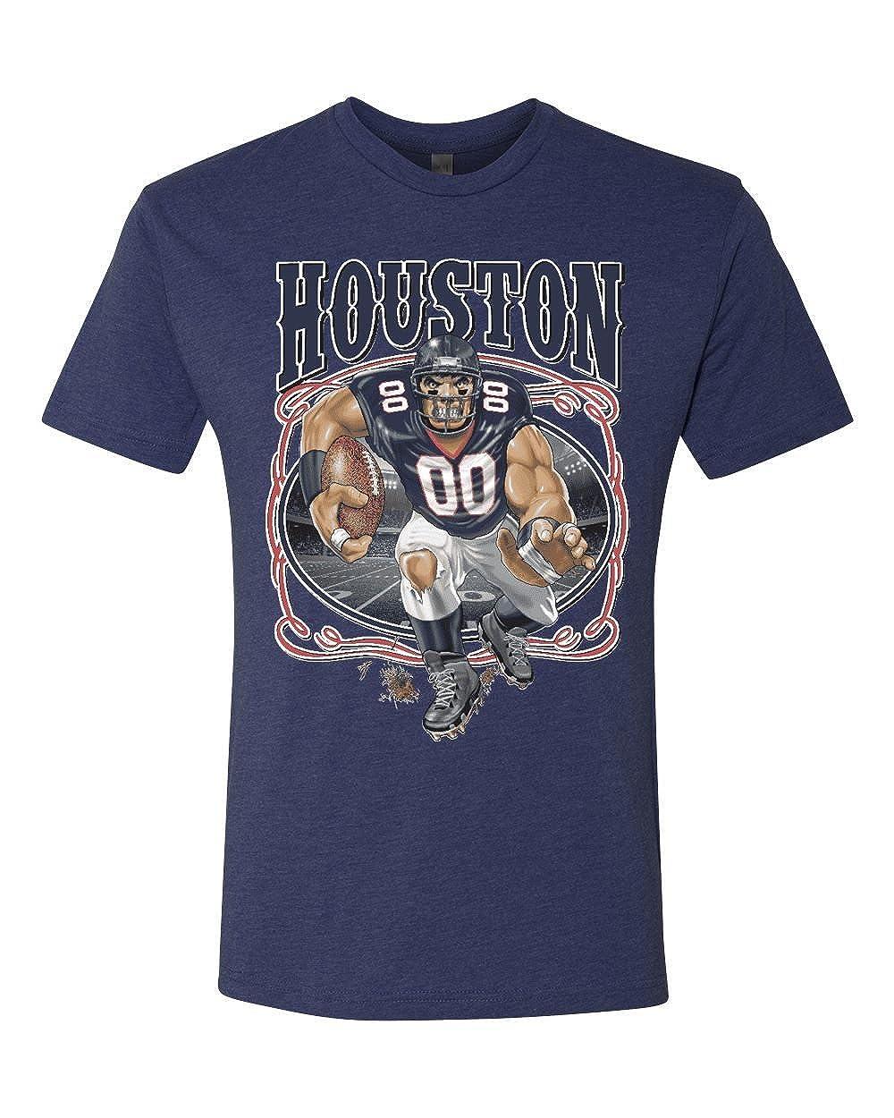 Houston Fan Hou Fantasy Football Mens Sports Tri Blend Shirts