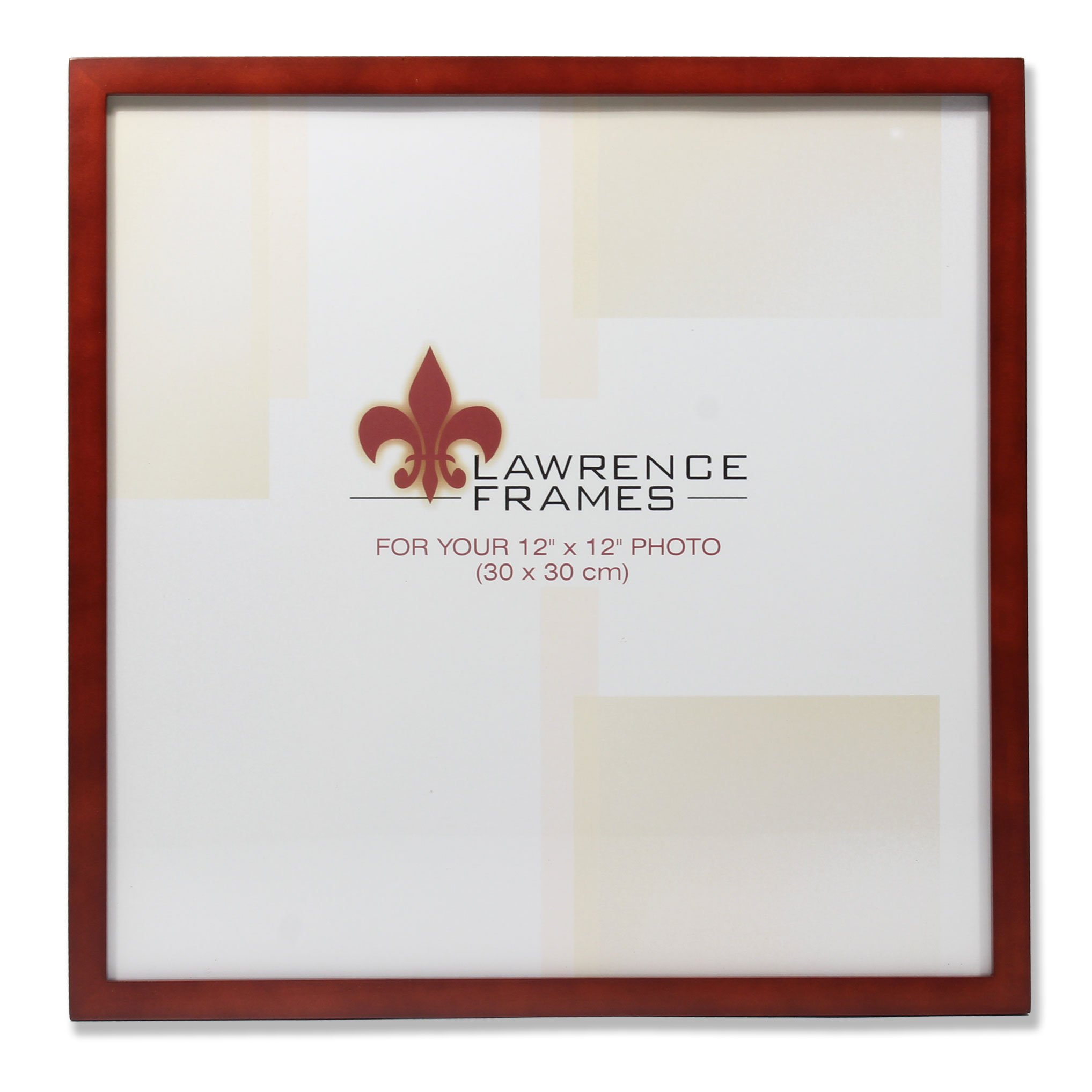 Lawrence Frames 755612 Walnut Wood Picture Frame, 12 by 12-Inch by Lawrence Frames