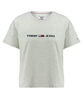 6a285e47 Tommy Jeans T-Shirts For Women L, Grey: Amazon.ae