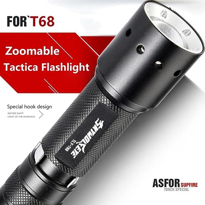 linternas tacticas led alta potencia 4000 lumens recargables Sannysis linternas bicicleta montaña policía zoomable T6 Antorcha linterna táctica Zoomable LED ...