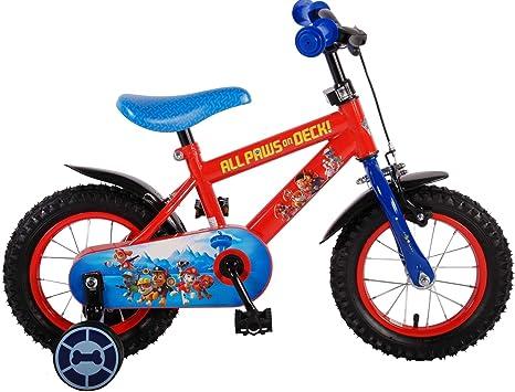 Bicicleta niño Paw Patrol 12 pulgadas 3 4 4,5 años ruedas rojo azul ...