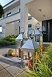 home + Lanterne en acier inoxydable - anti-corrosion, résistant aux intempéries - Différentes tailles disponibles (pointe) - Klein (45cm)