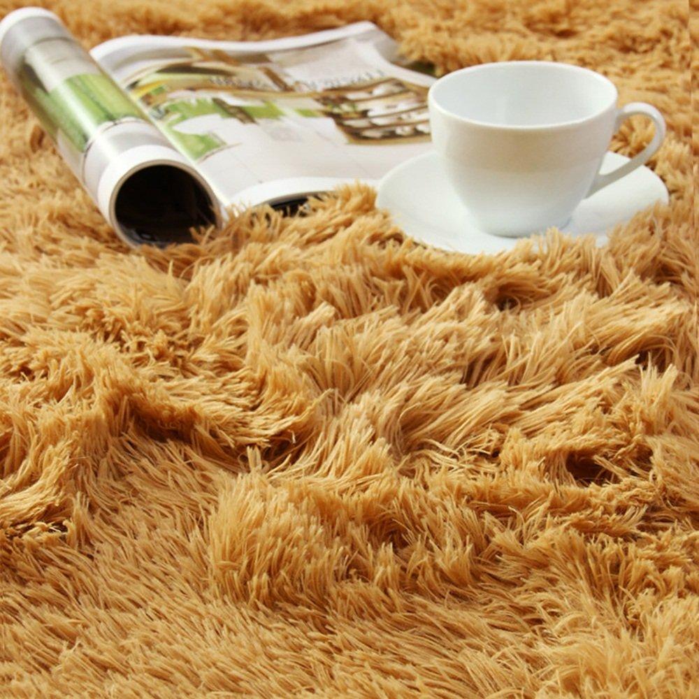 Everyday Home- Home- Home- Carpet Plus Superfine Faser Haarige Wohnzimmer Schlafzimmer Teppich (Farbe   Grau, größe   140cm200cm) 3a0264