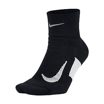 Nike U Nk ELT Cush Qt-RN Calcetines, Hombre, Negro y Blanco,