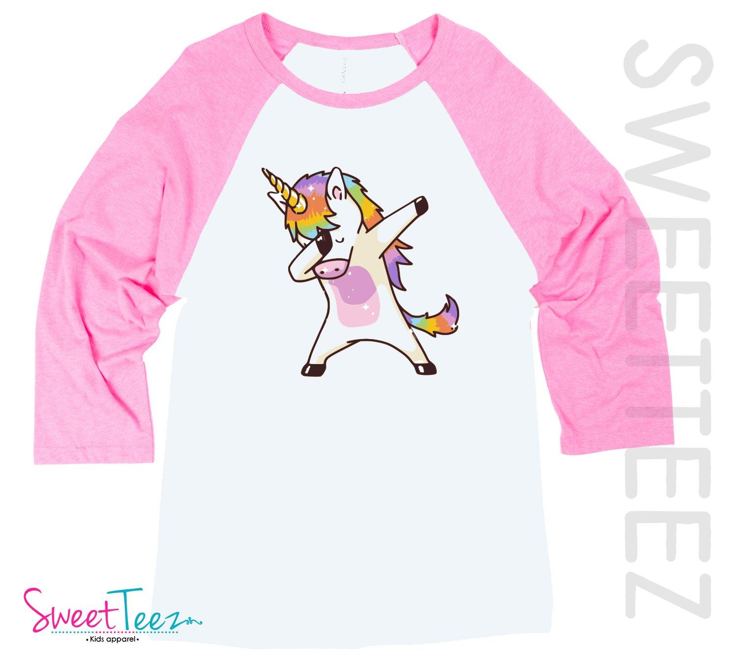 Unicorn Shirt Women Shirt Dabbing Unicorn Hip Pink Shirt Gift