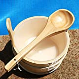 Sauna Wooden Bucket and Ladle Kit,Uwecan Sauna