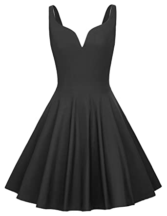 db95837cf03e GRACE KARIN Women Sleeveless Plunge V Neck Swing Cocktail Dress at ...