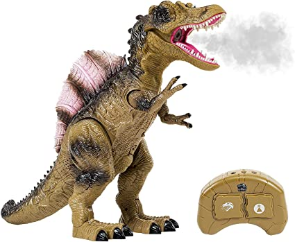Dinosaurio Triceratops Juguete Roaring Battery operado sonido y caminar 2 Color UK
