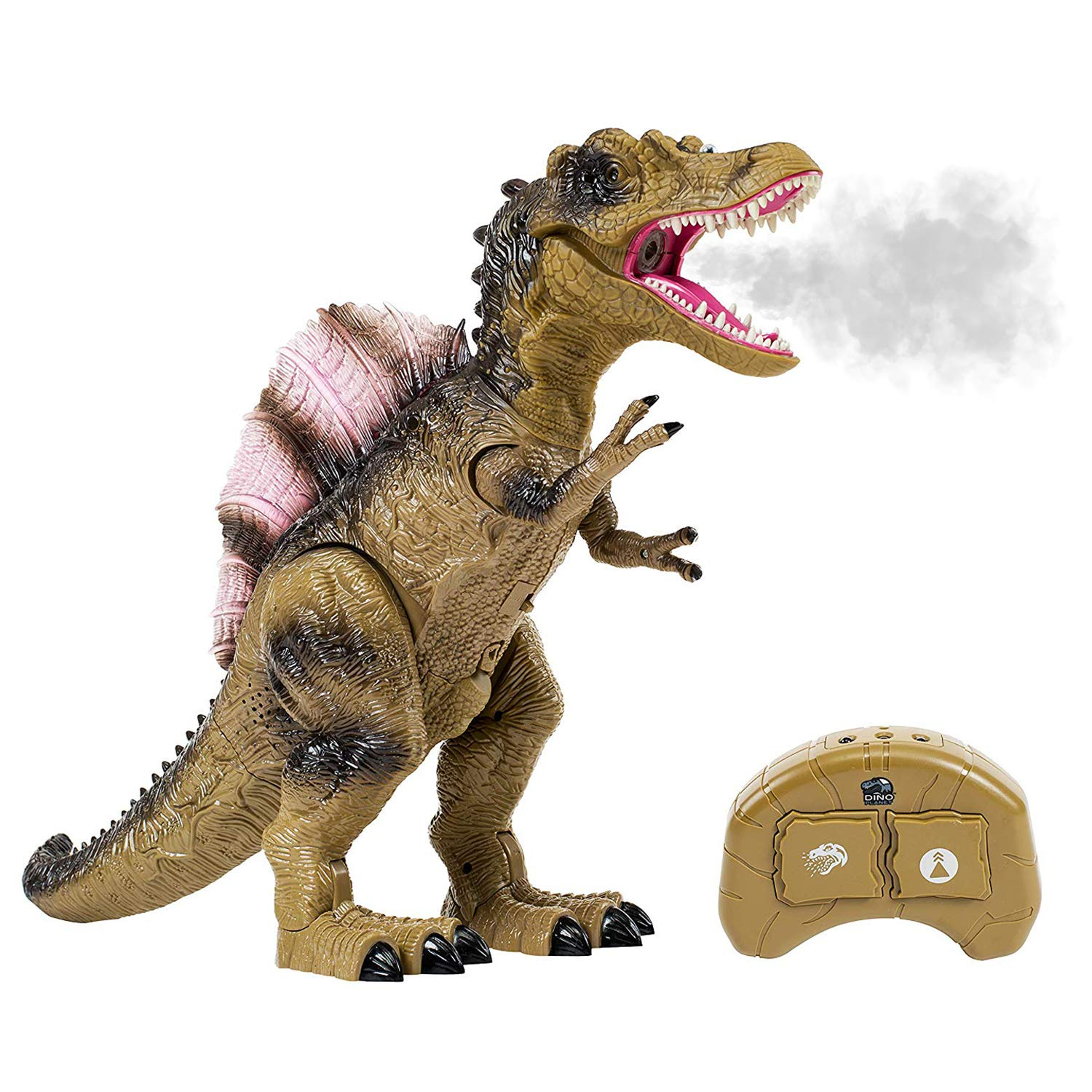 Build Me Remote Control Dinosaur Toy for Kids with Roaring Sounds and Smoking Breath. RC Spinosaurus Dino with Glowing Eyes, Walking Movement, Shaking Head. by Build Me (Image #1)