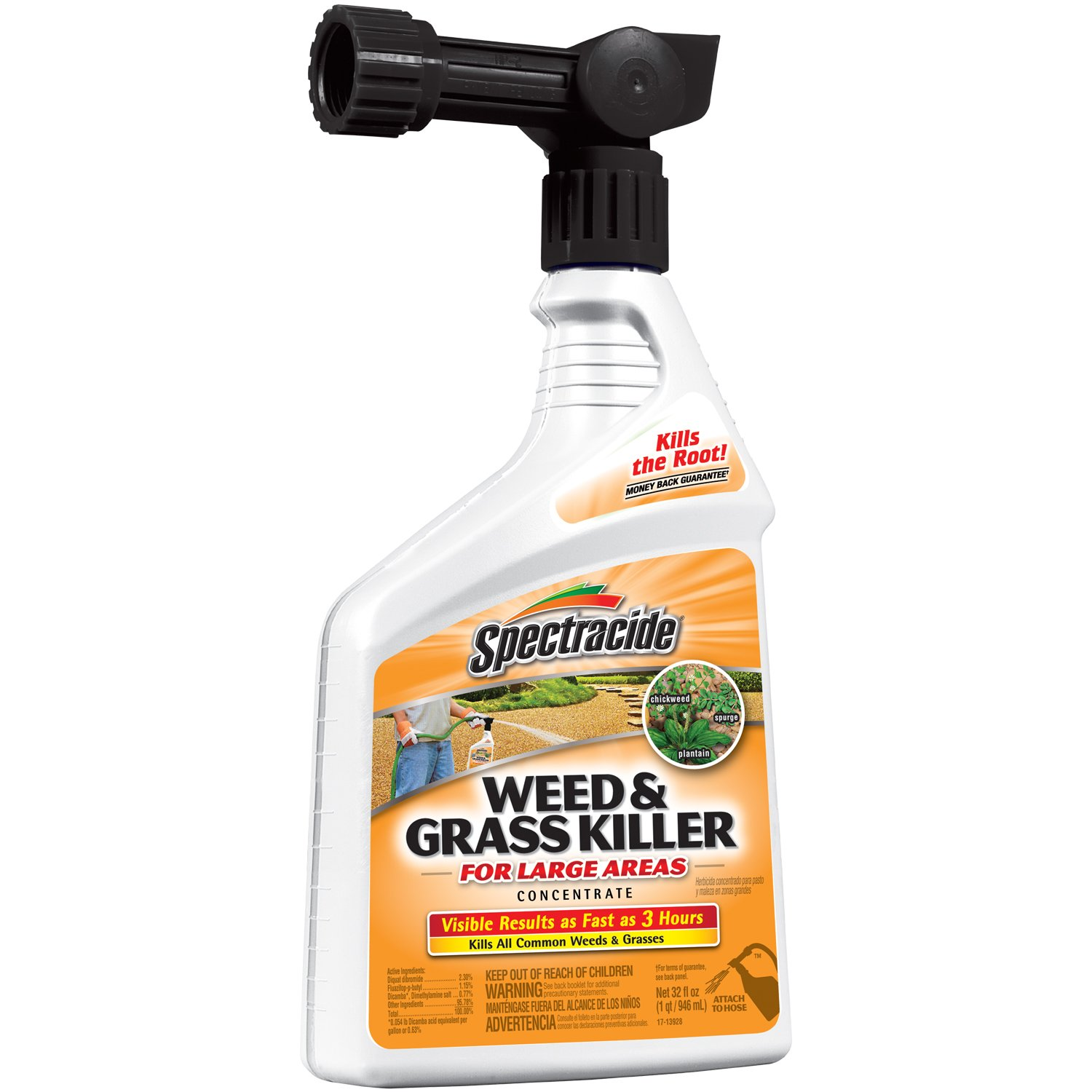 Spectracide Weed and Grass Killer Concentrate, Ready-to-Spray, 32oz., 1-PK