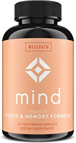 Mind Brain Supplement - Natural Formula to Boost Focus & Memory